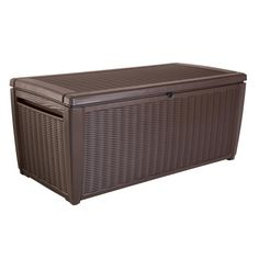 2 Keter 150 Gal Storage Container Box Brown Deck Box