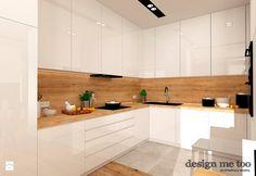 GRAZIOSO APARTAMENTY - Średnia otwarta kuchnia w kształcie litery u w aneksie, styl nowoczesny - zdjęcie od design me too