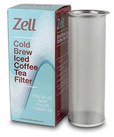 Zell Cold Brew Coffee, Iced Coffee and Iced Tea Maker Infuser   Durable Fine Mesh Stainless Steel Coffee Maker Filter   64 Oz (2 Quart) Fits 64 oz Wide Mouth Mason Jar: Use our Zell fine mesh filter with a 64 oz (2 quart or 1890 ml) wide mouth mason jar, like the affordable Ball Mason Jar, to... - http://kitchen-dining.bestselleroutlet.net/product-review-for-zell-cold-brew-coffee-iced-coffee-and-iced-tea-maker-infuser-durable-fine-mesh-stainless-steel-coffee-maker-filter-64-