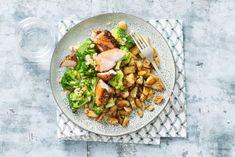 Zalmfilet met peperkorst & broccoli met hazelnoten