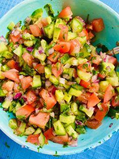Salads For Kids, Easy Salads, Chef Salad Recipes, Vegan Recipes, Jerusalem Salad, Vegan Vegetarian, Paleo, Keto, Healthy Broccoli Salad