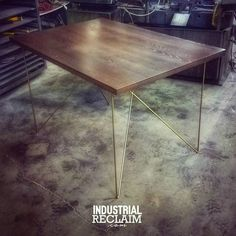 Clean, modern small dining table being delivered tomorrow. Perfect for a city space. IndustrialReclaim.com #gold #reclaimed #repurposed#industrialfurniture#modernfurniture #design #art #handmade #decor #vintage #vintageindustrial #industrial#artofchi #creative #steel #metal #metalwork #welding #industrialdesign #interiordesigner #interiordesign #modern #moderndesign #modernindustrial #chicago #Chicagoart #insta_chicago #chicagogram
