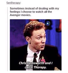 Yes. Literally I was just telling my friend how I wanted to cry and eat ice cream and watch marvel movies. I'm trash