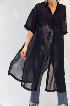 Silence + Noise Jayden Sheer Midi Blouse | Urban Outfitters