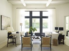 Living room chic in black and white Kate Jackson Design and Pursley Dixon Architecture