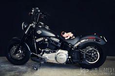 Love these newborn baby photos! | Family portraits | newborn baby on motorcycle | Jim Kennedy Photographers