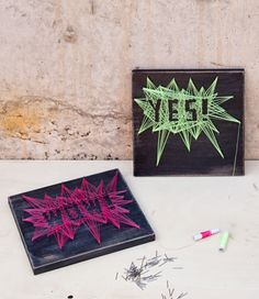 """DIY String Art by """"I am a Mess"""" I love colours"""