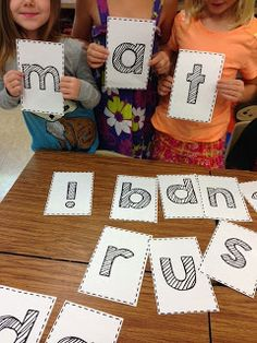 A team building phonics activity - free letter download (Rulin' The Roost)