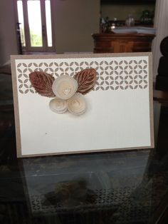 """Tan and White """"Any occasion"""" card"""