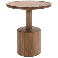 Contemporary Boton One Side Table in Conacaste Solid Wood by Labrica