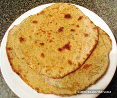 Roti/chapati – indijske pogacice koje se obicno sluze uz neki curry ili jogurt sa zacinskim travama. Evo jedne zdrave verzije sa slanutkovim i integralnim brasnom.