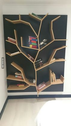 My dad is a carpenter, he made this for my sister. A tree bookshelf! hope you enjoy 9gag