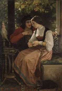 The Proposal, 1872 – William-Adolphe Bouguereau (French, La Rochelle), Oil on canvas William Adolphe Bouguereau, The Kiss, John Everett Millais, Beaux Arts Paris, Art Occidental, Munier, Art Ancien, Pre Raphaelite, Art Database