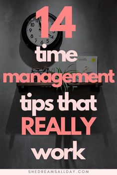 14 Time Management Tips That Really Work 14 time management tips that really work. If you want to learn how to manage your time better and be more productive, check these tips out today! Time Management Tools, Effective Time Management, Time Management Strategies, Time Management Quotes, Productive Things To Do, How To Stop Procrastinating, Working Moms, Getting Things Done, Self Improvement