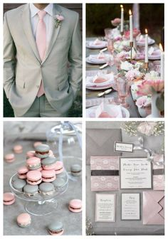 Grey and pink is a very beautiful and romantic combo, which is ideal for an elegant spring or summer wedding. Grey and pink have lot of shades to choose ...