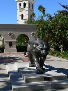 Mike the Tiger statue on LSU campus