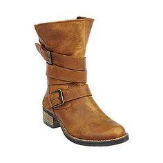 Steve Madden Brewzzer #stevemadden #brewzzer #leather #brown #buckles #cute #fashion #ankle #bootie