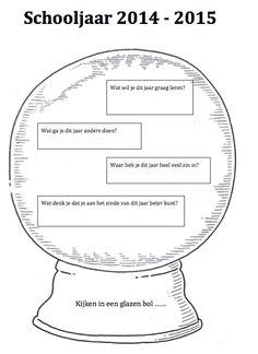 """Kijken in een glazen bol…. Leuk om als """"huiswerkopdracht"""" mee te geven voor de kennismakingsgesprekken..."""