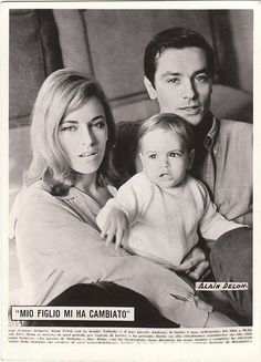 Alain Delon, Nathalie Delon, Anthony Delon 1965.