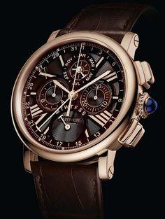 Cartier Rotonde Perpetual Calendar Chronograph Rose Gold Chocolate (2013 preview)
