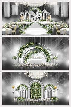 White marble European wedding effect picture Wedding Hall Decorations, Backdrop Decorations, Backdrops, Indian Wedding Receptions, Wedding Mandap, Wedding Gate, Wedding Drawing, Peach Wedding Invitations, Wedding Stage Design