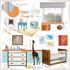 Nursery Inspiration: Orange & Aqua | Project Nursery