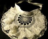 This beautiful baby bib was created from a vintage double-ruffled lace doily - great for Christenings, Easter, or other special occasions.