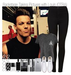 """""""Backstage Taking Pictures with Louis (OTRA)"""" by elise-22 ❤ liked on Polyvore featuring Mode, Topshop, Converse, Stila, shu uemura, NARS Cosmetics, Wet n Wild, Agonist, Butter London und ASOS"""