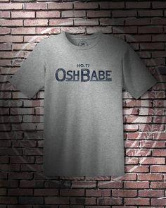 """""""Osh Babe"""" – Unisex Lightweight T-Shirt – Heather Grey – STUDIO 1789 #Washington #DC #Capitals #NHL #Hockey #TJ #Oshie #TJOshie #Osh #Babe"""