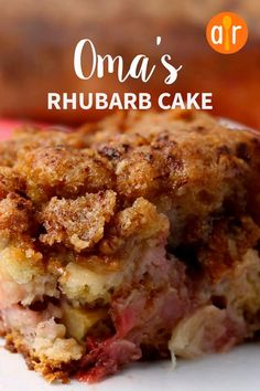 Rhubarb cake recipes - Oma's Rhubarb Cake Excellent recipe! My husband's grandmother called me for the recipe and I've been bragging that grandma wanted one of my recipes! It was so moist allrecipes cakerecipes ba Food Cakes, Cupcake Cakes, Rose Cupcake, Cupcake Recipes, Dessert Aux Fruits, Savoury Cake, Sweet Recipes, Ruhbarb Recipes, Desert Recipes