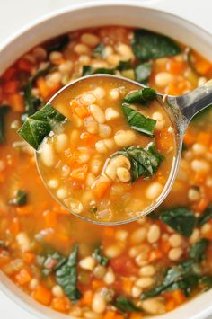 Cooker White Bean Stew Not your average soup! This slow cooker white bean stew is fresh, hot, and full of flavor.Not your average soup! This slow cooker white bean stew is fresh, hot, and full of flavor. Slow Cooker Recipes, Cooking Recipes, Slow Cooker Bean Soup, Oven Recipes, Recipies, Easy Cooking, Slow Cooker Posole, Slow Cooker Soup Vegetarian, Vegetarian Crockpot Soup