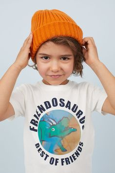 T-shirt in soft jersey with an interactive motif at front. World Of Fashion, Kids Fashion, Lenticular Printing, Dinosaur Art, Summer Boy, Monster Art, H&m Gifts, Fashion Company, New Outfits