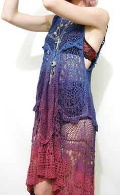 gypsy crochet dip-dyed dress!