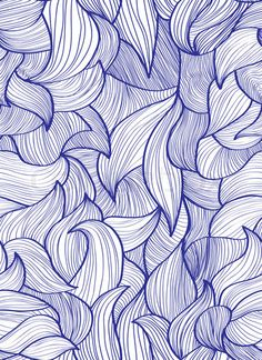 Stock image of 'Abstract hand-drawn background, Seamless pattern with waves can be used for wallpaper, pattern fills, web page background, surface textures'