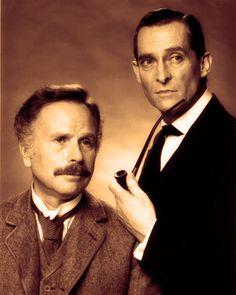 Edward Hardwicke and Jeremy Brett as Doctor Watson and Sherlock Holmes in Granada Television's Sherlock Holmes.