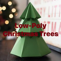 Winter Christmas, Christmas Tree, Christmas Ornaments, 3d Craft, Studio Software, Silhouette Machine, Low Poly, Silhouette Design, Design Crafts