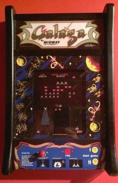 Galaga arcade wall art. Pinball Games, Arcade Games, Nerd Cave, Man Cave, Retro Arcade, Retro Images, Arcade Machine, Coffe Table, Garage Ideas