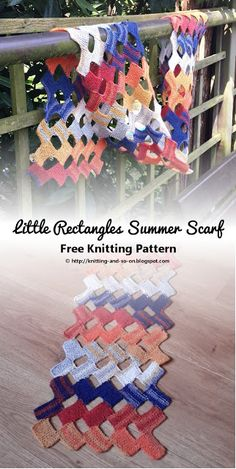 Little Rectangles Summer Scarf - Free Knitting Pattern by Knitting and so on