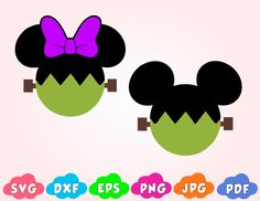 Disney Halloween Mickey SVG, Frankenstein. 4 Dulceros Halloween, Moldes Halloween, Mickey Mouse Halloween, Halloween Crafts For Kids, Holiday Crafts, Disney Diy, Disney Crafts, Disney Halloween Decorations, Mickey Mouse And Friends