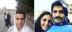 Men in Iran are wearing hijabs in a displayof solidarity with women across the country who are forced to cover their heads in public. Wearing a headscarf is strictly enforced by so-called 'morality police' in Iran and has been since the Islamic Revolution in 1979. Women who do not wear a hijab or are deemed to be wearing 'bad hijab' by having some of their hair showing face punishments ranging from fines to imprisonment.