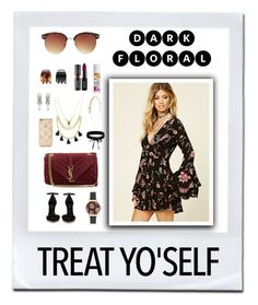 """""""Dark floral"""" by anna-styles14 on Polyvore featuring Mode, Forever 21, Olivia Burton, Yves Saint Laurent, Tataborello und Boohoo"""