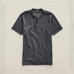 Short-Sleeved Henley・MEN Sale | RRL - ShipToAUESite Rocker Look, Henley Shirts, Man, Club, Fashion Outfits, Spring, Room, Mens Tops, T Shirt