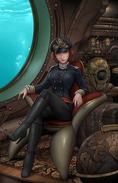 Victorian Secret: Girls of Steampunk Collection 2016 - Comics de comiXology: Web Steampunk Kunst, Steampunk Artwork, Cyberpunk, Steampunk Characters, Alternate History, Dieselpunk, Up Girl, Steampunk Fashion, Steampunk Nails