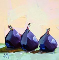 """""""Three Figs no. 6 Painting"""" by Angela Moulton"""