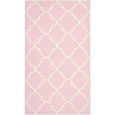 Found it at AllModern - Dhurries Pink/Ivory Area Rug