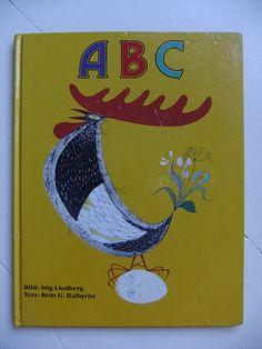 Vintage Swedish childrens ABC book pictures Stig Lindberg by AnnChristinsVintage on Etsy