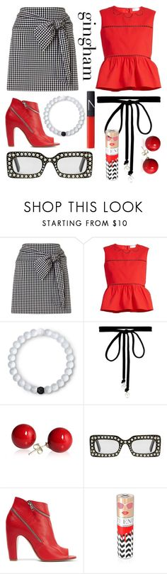 """""""Gingham Glam"""" by charmednotions ❤ liked on Polyvore featuring RED Valentino, Lokai, Joomi Lim, Gucci, Maison Margiela, House of Sillage, NARS Cosmetics, contest, gingham and fashionset"""