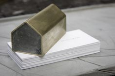 concrete house paperweights (brass & copper) by Studiokyss (Kenny Yong Soo Son)