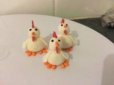 Fondant Chickens