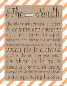 The South - Tennessee 8x10 print - Choose Your Color on Etsy, $15.00